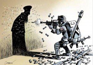 Noam Chomsky : « Il n'y a pas de guerre contre le terrorisme »  guerre-300x209